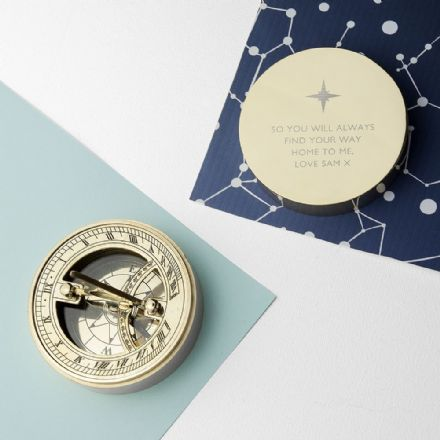 Personalised Iconic Adventurer's Brass Sundial Compass